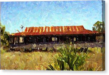 Old Florida Paint Canvas Print by Michael Morrison