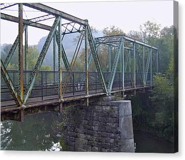 Old Foot Bridge Canvas Print