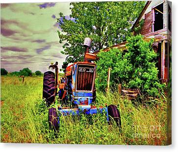 Old Ford Tractor Canvas Print