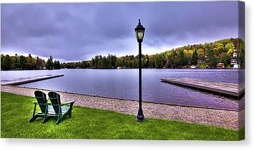 Old Forge Waterfront Canvas Print by David Patterson