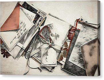 Canvas Print featuring the digital art Old Forgotten Letters by Pennie McCracken