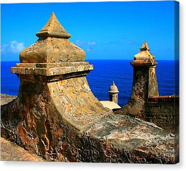 Puerto Rico Canvas Print - Old Fort Puerto Rico by Perry Webster