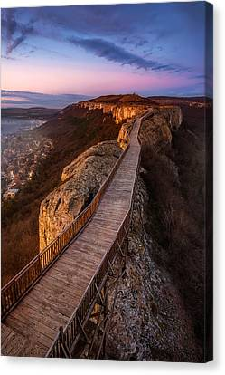Old Fortress At Sunset Canvas Print