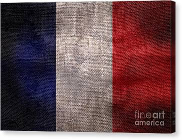 Old French Flag Canvas Print by Jon Neidert