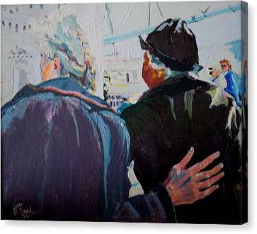 Old Friends In Love Canvas Print by Francine Frank