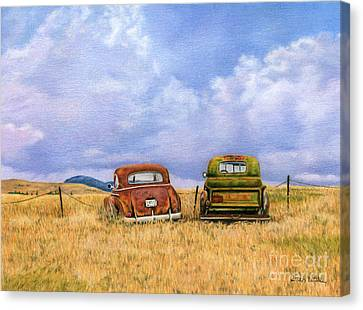 Rural Landscapes Canvas Print - Two Old Friends  by Sarah Batalka