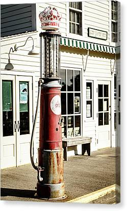Canvas Print featuring the photograph Old Fuel Pump by Alexey Stiop