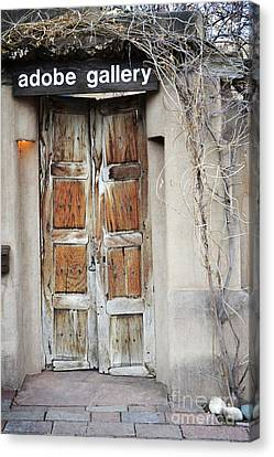 Canvas Print featuring the photograph Old Gallery Door by Andrea Hazel Ihlefeld