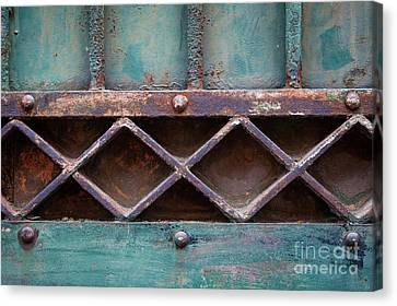 Ironwork Canvas Print - Old Gate Geometric Detail by Elena Elisseeva