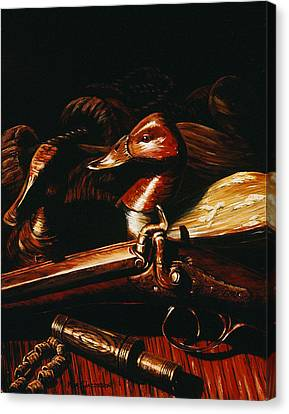Canvas Print featuring the painting Old Glass Eye by Kurt Jacobson