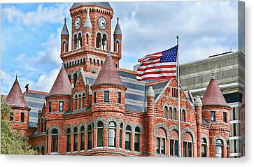 Old Glory And Old Red Canvas Print by Stephen Stookey