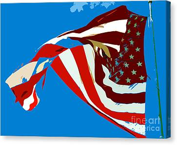 Old Glory Flying Canvas Print by David Lee Thompson