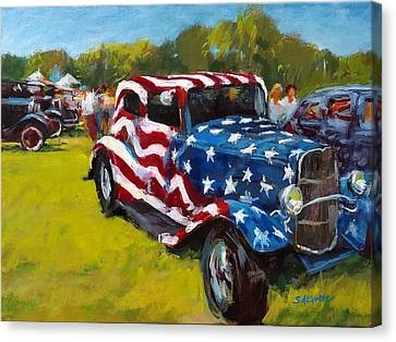 Old Glory Hot Rod Canvas Print by Peter Salwen