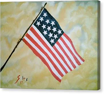 Old Glory Canvas Print by Jim Saltis