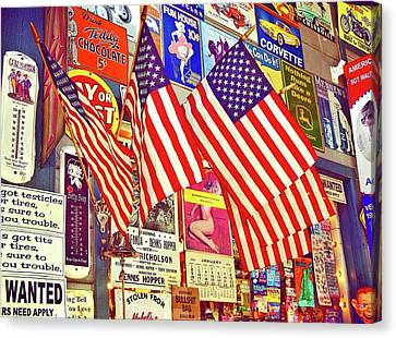 Canvas Print featuring the photograph Old Glory by Joan Reese