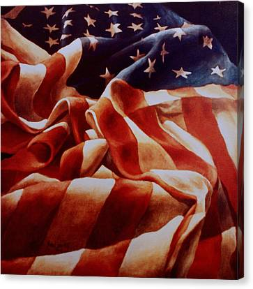 Old Glory Canvas Print by Michael Lang