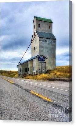 Old Grain Elevator In Idaho Canvas Print by Mel Steinhauer