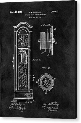 Old Grandfather Clock Patent Canvas Print by Dan Sproul