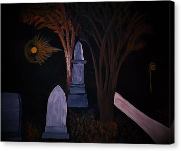 Old Graves Canvas Print by Bhean Spiorad