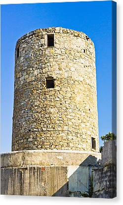 Old Greek Windmill Canvas Print