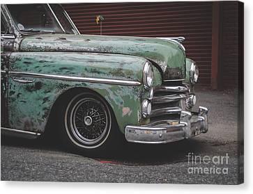 Cuba Canvas Print - Old Green Car Cuba by Edward Fielding