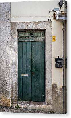 Old Green Door Canvas Print by Marco Oliveira