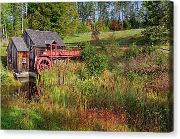 Barn Canvas Print - Old Grist Mill by Bill Wakeley