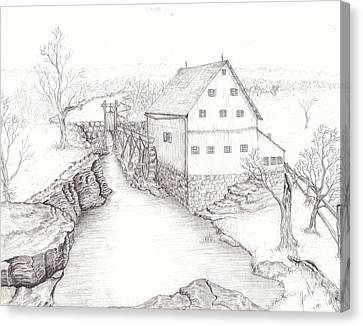 Old Grist Mill Canvas Print by Dan Theisen