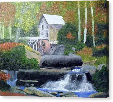 Old Grist Mill Canvas Print by John Smith