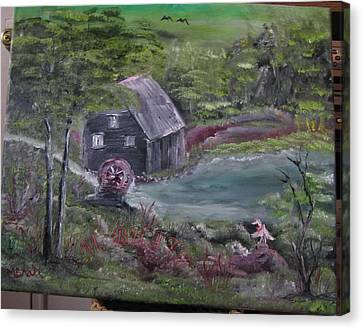 Old Grist Mill Canvas Print by M Bhatt