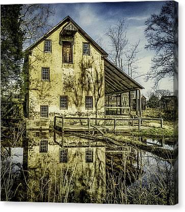 Old Grist Mill Canvas Print by Nick Zelinsky