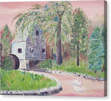 Old Grist Mill Canvas Print by Suzanne  Marie Leclair