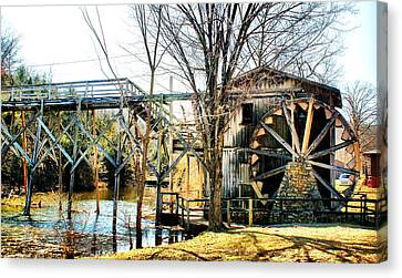 Old Gristmill Canvas Print by Rick Friedle