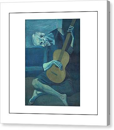 Old Guitarist Canvas Print by Pablo Picasso