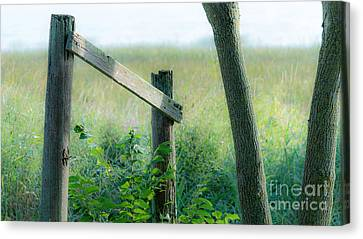 Old Hand Rail Canvas Print