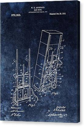 Old Hand Truck Patent Canvas Print by Dan Sproul