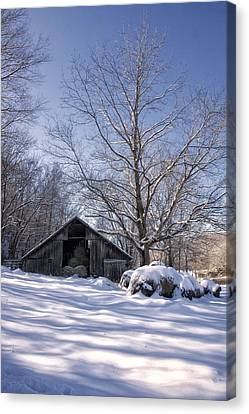 Old Hay Barn Boxley Valley Canvas Print by Michael Dougherty