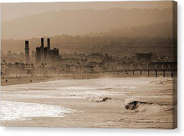 Old Hermosa Beach Canvas Print by Ed Clark