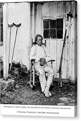 Old Hero Of Gettysburg Canvas Print by Kevin  Sherf