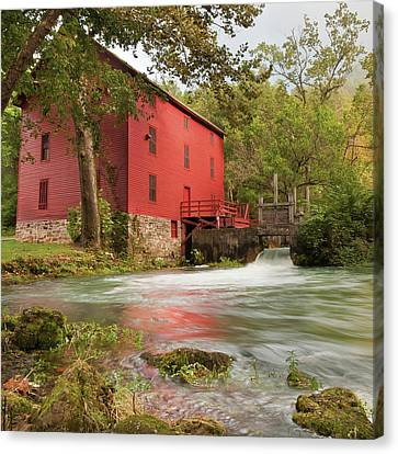 Old Historic Alley Spring Mill In Eminence Missouri Canvas Print