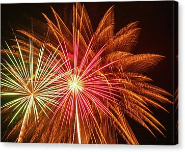 Independance Canvas Print - Old Home Days Fireworks by Laura Catherine
