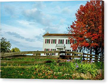 Old Home Federal Style Canvas Print by Randall Branham