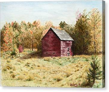 Old Homestead Barn Canvas Print by Kathy Roberts