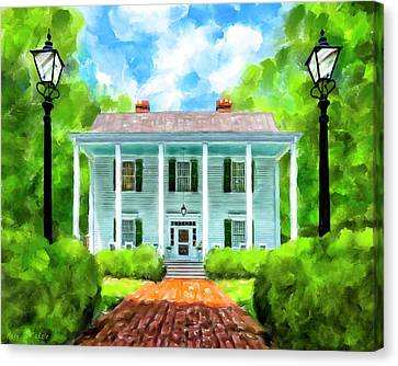 Canvas Print featuring the mixed media Old Homestead - Smith Plantation - Roswell Georgia by Mark Tisdale
