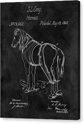 Old Horse Harness Patent  Canvas Print by Dan Sproul