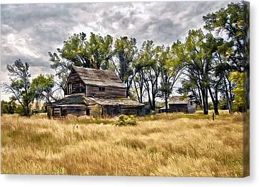 Old House And Barn Canvas Print
