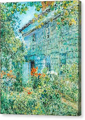 Old House And Garden East Hamptons Canvas Print