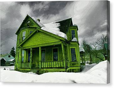 Canvas Print featuring the photograph Old House In Roslyn Washington by Jeff Swan
