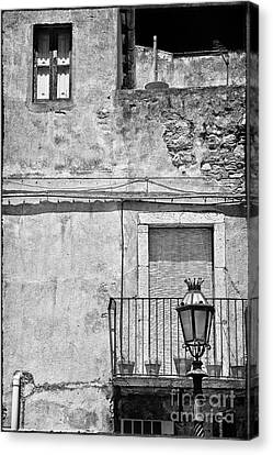 Old House In Taormina Sicily Canvas Print