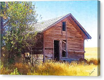 Canvas Print featuring the photograph Old House by Susan Kinney